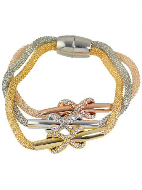 sale Alloy Rhinestone Infinity Layered Bracelet -   Mobile