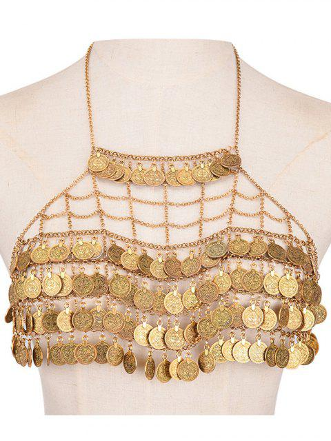 latest Tiered Coins Body Chain - GOLDEN  Mobile