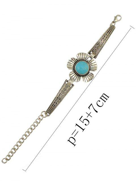 outfit Fake Turquoise Floral Bracelet -   Mobile