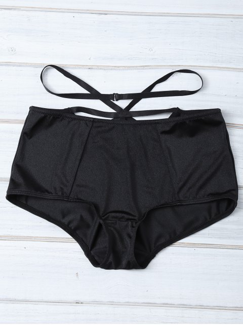 trendy Strappy High Rise Panty - BLACK M Mobile