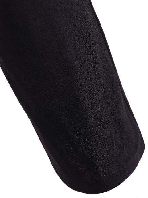 shop Black High Waisted Pencil Pants - BLACK XL Mobile