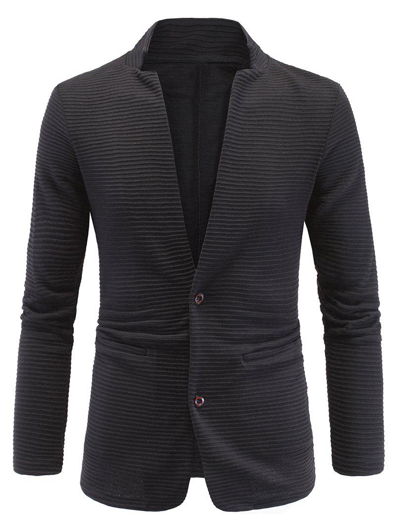 Elbow Patch Ribbed Long Sleeve Blazer 194831104