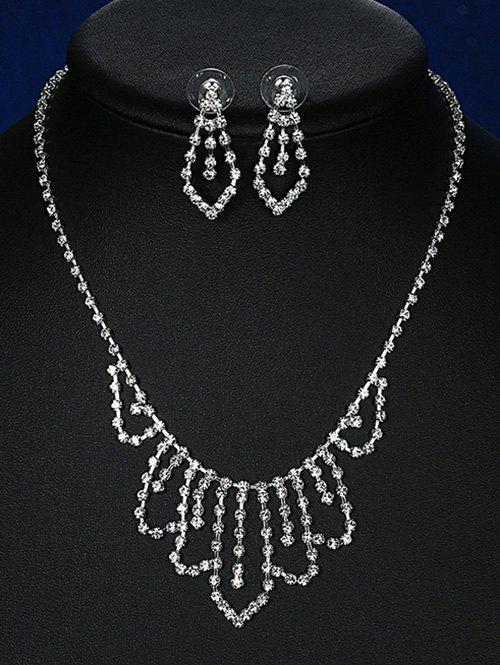 Géométriques Adorn Rhinestoned bijoux de mariée set