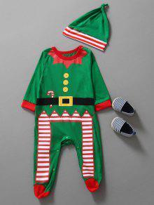 ملابس عيد الميلاد الاطفال بذلة - أخضر 90
