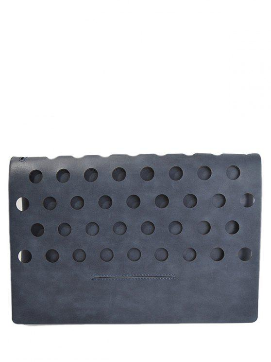 Escavar coberto PU Leather Clutch Bag - Cinza Escuro