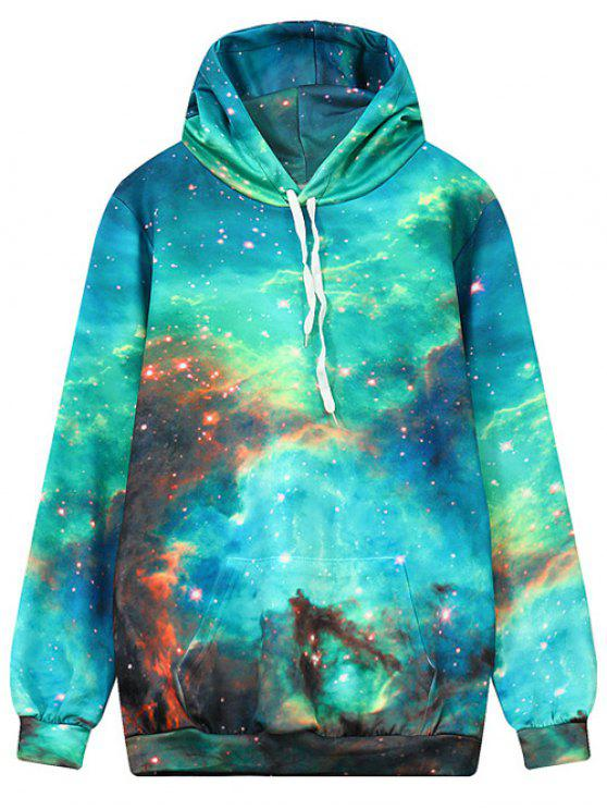 shop Front Pocket Galaxy Hoodie - MULTI L