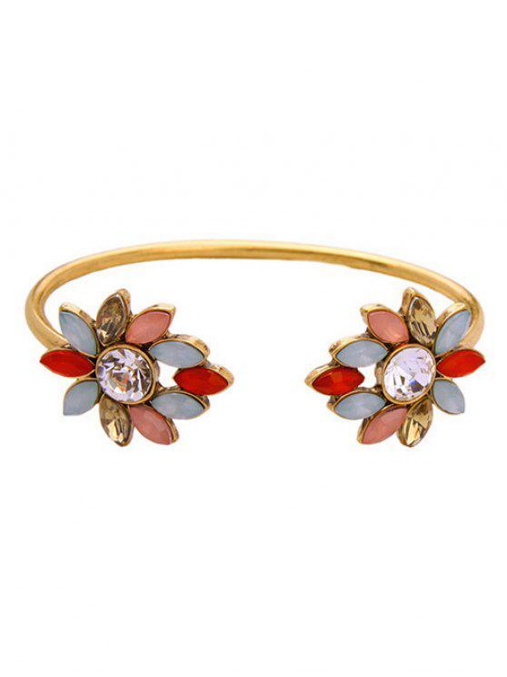 Brazalete de flores Lover - Dorado
