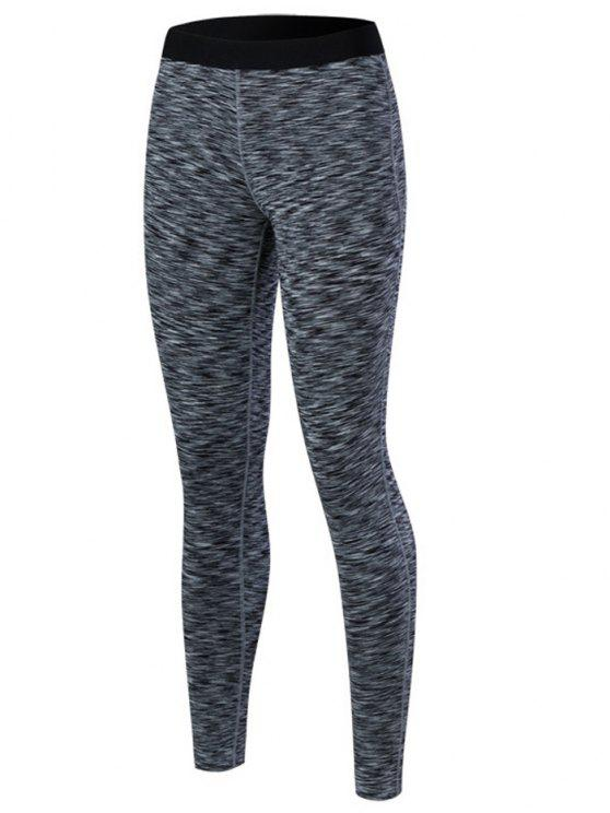 women's Marled Leggings - BLACK XL
