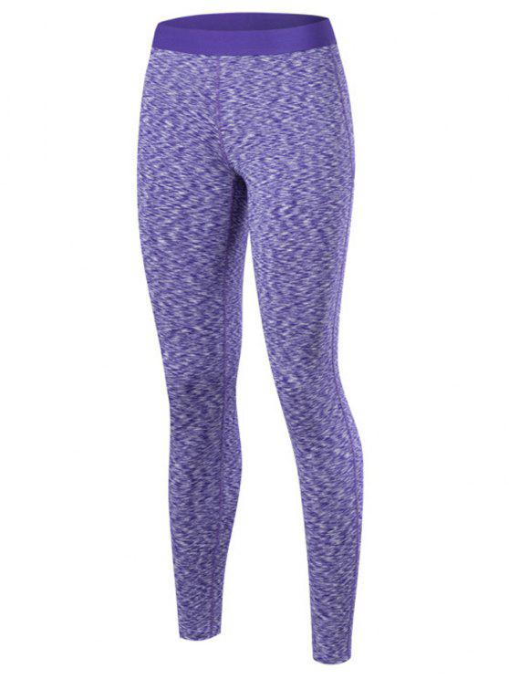best Marled Leggings - PURPLE XL