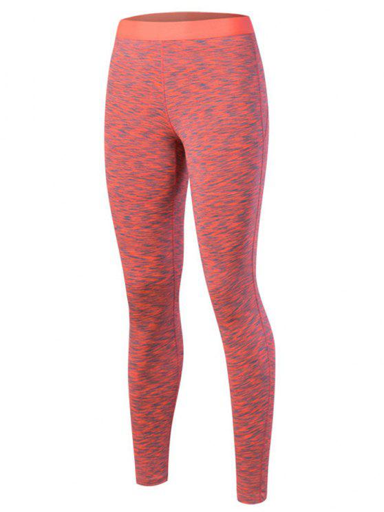 outfit Marled Leggings - ORANGE RED S
