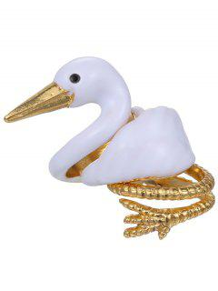 Swan Alloy Jewelry Set Rings - White One-size