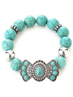Faux Turquoise Perle Bracelet - Argent