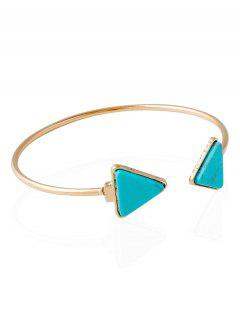Triangle Artificial Rammel Cuff Bracelet - Green