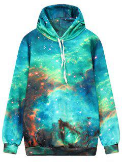 Front Pocket Galaxy Hoodie - Multi L