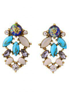 Rhinestone Hollowed Stud Earrings