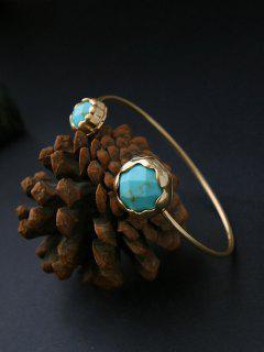 Faux Stone Cuff Bracelet - Green
