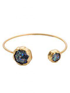 Faux Stone Cuff Bracelet - Black