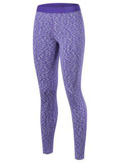 Marled Leggings - Purple S