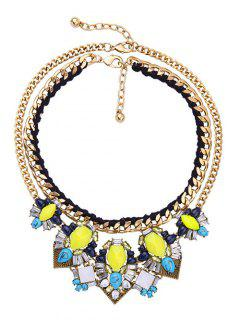 Faux Gem Layered Necklaces - Golden