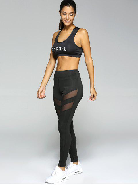 sale See-Through Tight Sport Running Leggings - BLACK XL Mobile