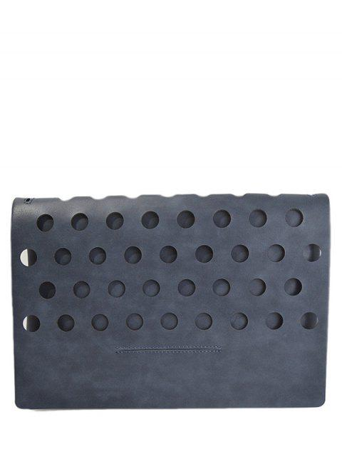 unique Hollow Out Covered PU Leather Clutch Bag -   Mobile
