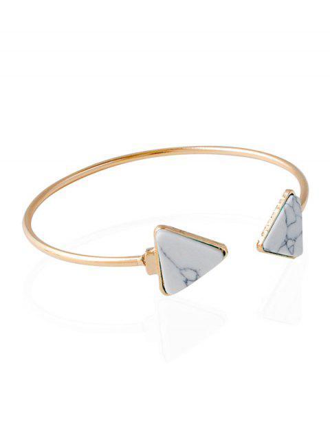 Triangle Artificial Rammel Armreif - Weiß  Mobile