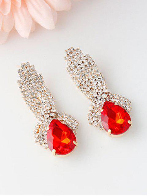 women's Rhinestoned Faux Crystal Drop Earrings -   Mobile