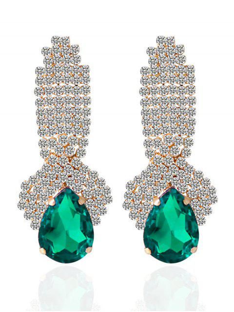 best Rhinestoned Faux Crystal Drop Earrings -   Mobile
