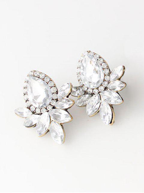 new Water Drop Rhinestone Artificial Crystal Earrings - WHITE  Mobile