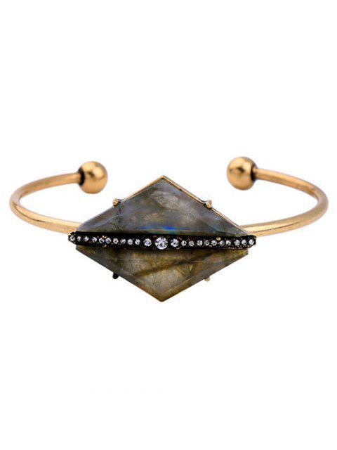 new Rhombus Stone Cuff Bracelet -   Mobile