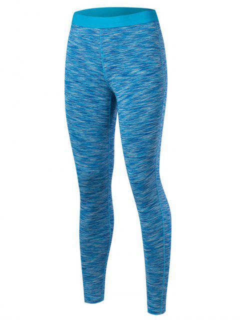shop Marled Leggings - LAKE BLUE M Mobile