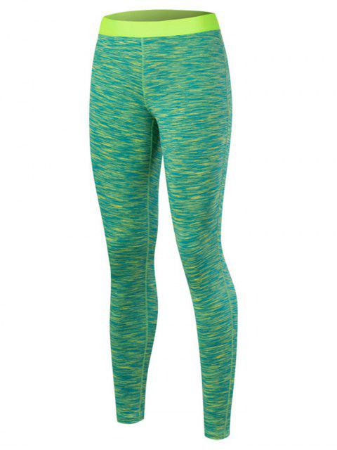 trendy Marled Leggings - GREEN M Mobile