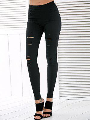 Taille haute Ripped Leggings