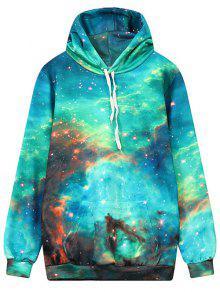 Front Pocket Galaxy Hoodie - Multi L