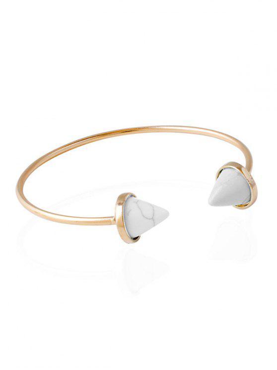 Bracelet Bijoux Cone Faux Rammel Boho - Blanc
