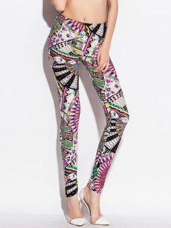 Skinny Taille élastique Big Pinwheel Print Leggings