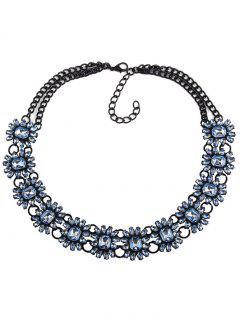 Collar Gargantilla Geométrica De Imitación De La Gema - Azul