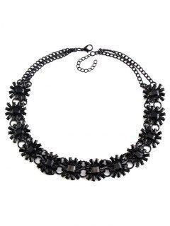 Collar Gargantilla Geométrica De Imitación De La Gema - Negro