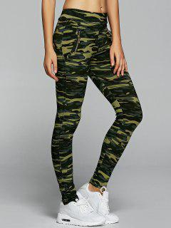 Camo High Waisted Leggings - Army Green Camouflage