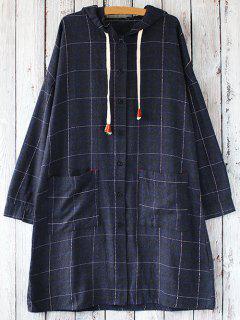 À Manches Longues Une Robe à Capuchon Ligne - Bleu Violet