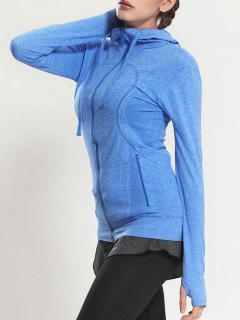Zip Through Sports Hoodie - Blue S
