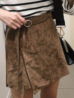 A Line Corduroy Skirt - Dark Coffee S