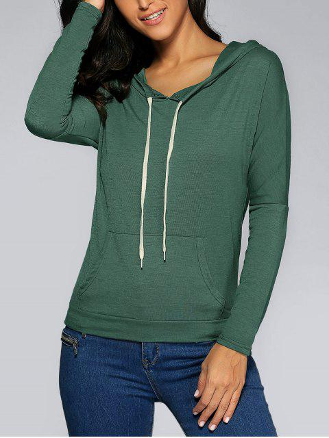latest Front Pocket Hoodie - ARMY GREEN M Mobile