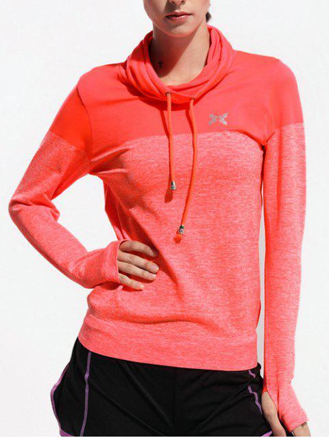 T-shirt sport à col haut - Saumon S Mobile
