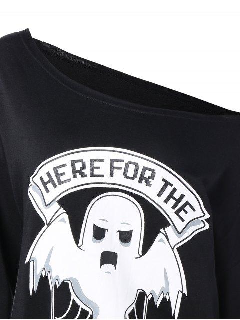Un sweat-shirt à épaule - Noir M Mobile