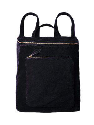 Casual Zips Suede Backpack