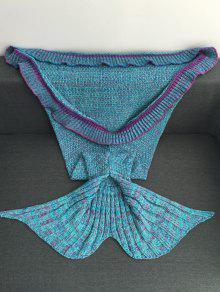 بطانية ميرميد محبوك تصميم كشكش - الضوء الأزرق