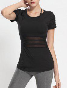 Buy Mesh Panel Sports T-Shirt - BLACK M
