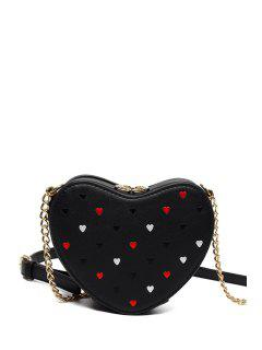 Heart Shaped Crossbody Bag - Black