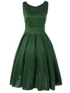 Sweetheart Neck Vintage Dresses - Green M
